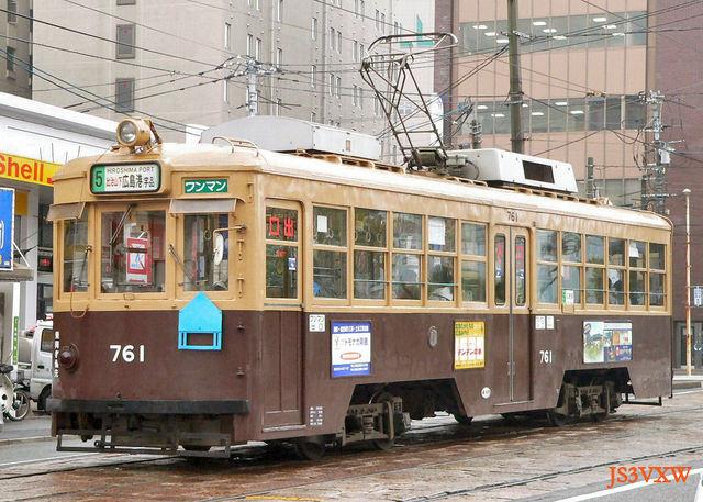 広島電鉄_市内線_750形 761改
