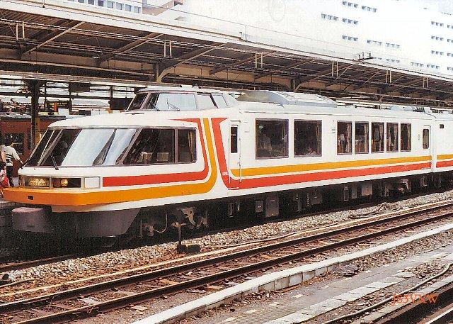 JR東日本 1987 パノラマエクスプレス アルプス① クロ165_4