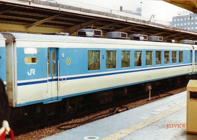 JR四国 1988 ムーンライト高知③ オロ12_6
